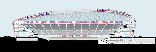 Sezione trasversale dello stadio