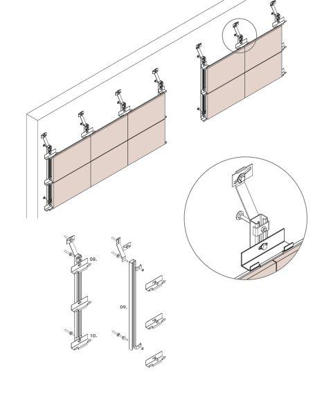 I diversi elementi in terracotta utilizzati nel magazzino della Nuova stazione elettrica Terna a Suvereto