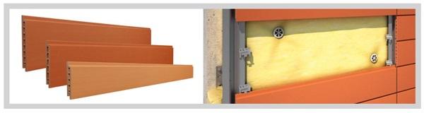 Facciate ventilate in cotto Terreal - componenti e sistema di montaggio Piterak Slim
