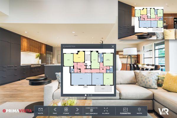 PrimaVisita di Casa.it, visita interattiva con possibilità di vedere la Planimetria dell'abitazione