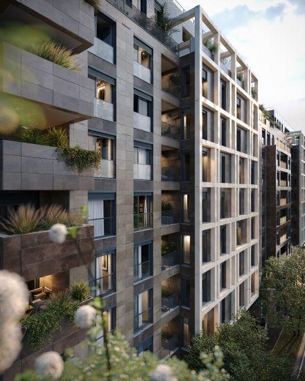 La facciata del progetto immobiliare Princype a Milano