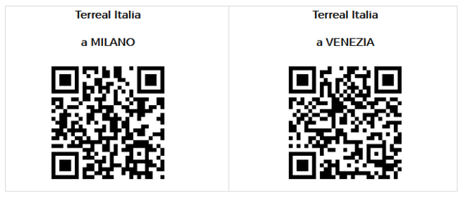 QR code Milano e Venezia