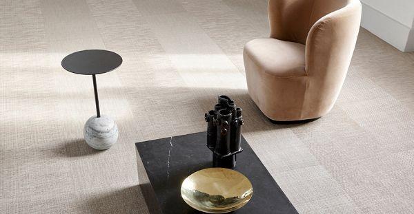 Liuni propone il Il pavimento in tessuto vinilico Bolon Tatami Quadrotti Elements