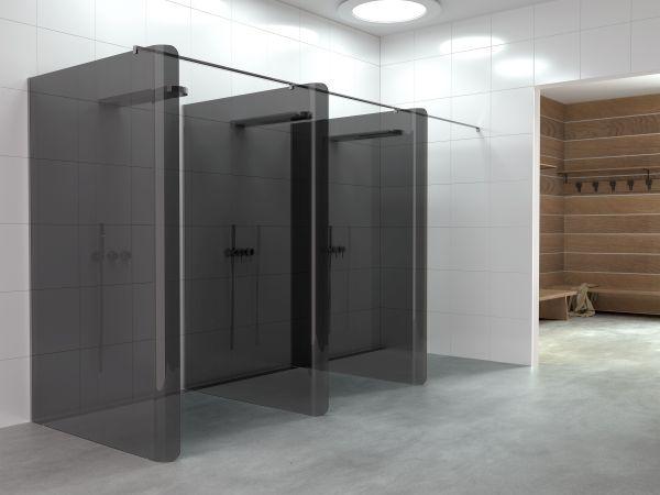 Il box doccia Bobox di relax come divisorio in palestra