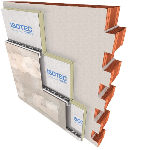 Soluzione di facciata ISOTEC+ELYCEM