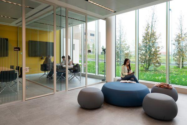 Tanti spazi comuni nelle nuove Residenze Humanitas University