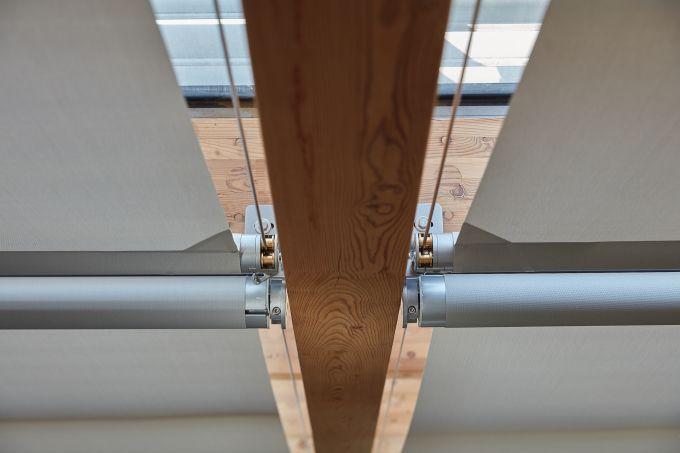 dettaglio delle schermature solari Resstende al MUSE di Trento