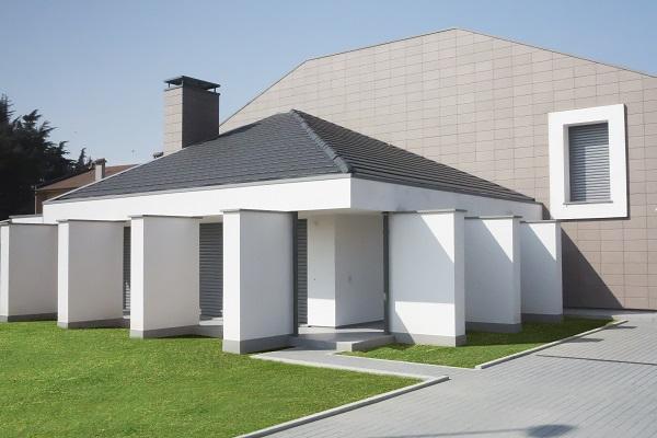 Rivestimento facciata di un'abitazione