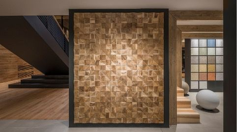 Lo spazio espositivo Boutique di Rubner Haus