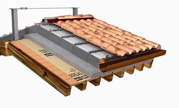 Dettaglio tetto ventilato