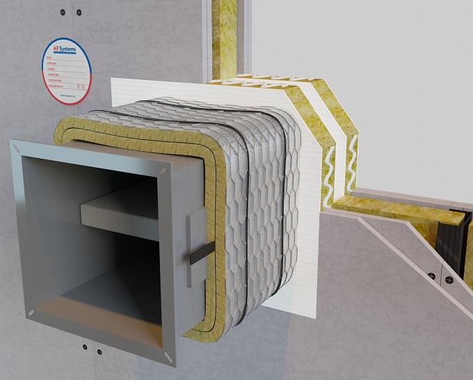 Protezione al fuoco per condotte di ventilazione