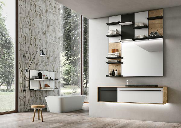Sistema Suite firmato Arter&Citton per GEROMIN® per l'arredo bagno