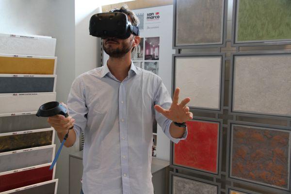 Tecnologia San Marco per Scegliere le pitture ideali per la propria casa con la realtà virtuale