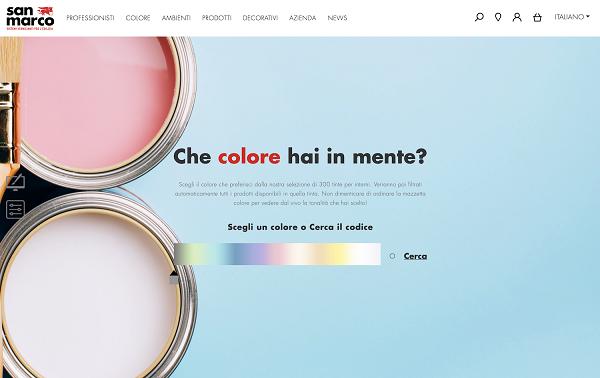 Scelta dei colori nel marketplace San Marco