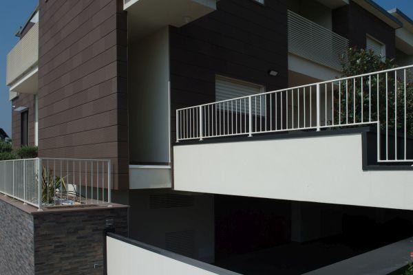 I balconi dell'a nuova abitazione a Savignano sul Rubicone