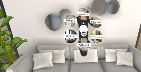 Sei diversi ambienti per scegliere i colori per la propria abitazione con la realtà virtuale