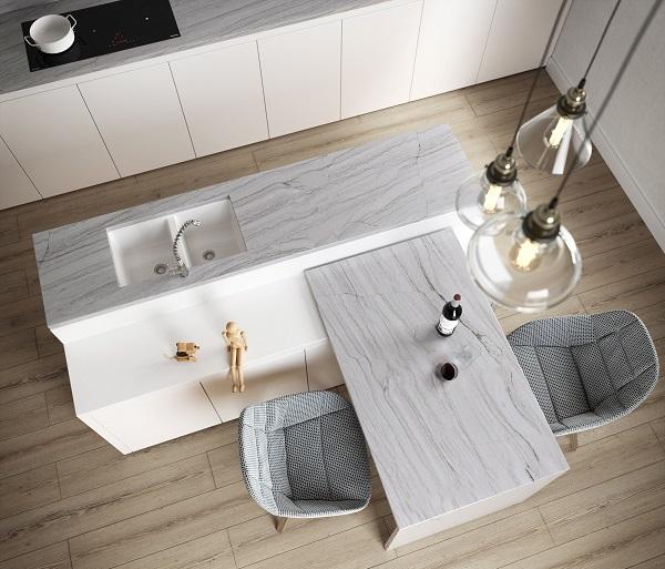 Sensa by Cosentino nella tonalità White Macaubas
