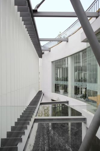 Un particolare degli esterni del progetto Shanghai_MORE