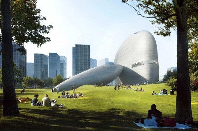 I grandi massi levigati che caratterizzano lo Shenzhen bay culture park