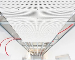 Sistema radiante fonoassorbente a soffitto REHAU