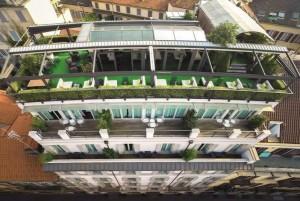 La terrazza panoramica all'ottavo piano l'Hotel Milano Scala