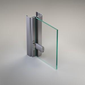 Porta a battente con pannelli di vetro