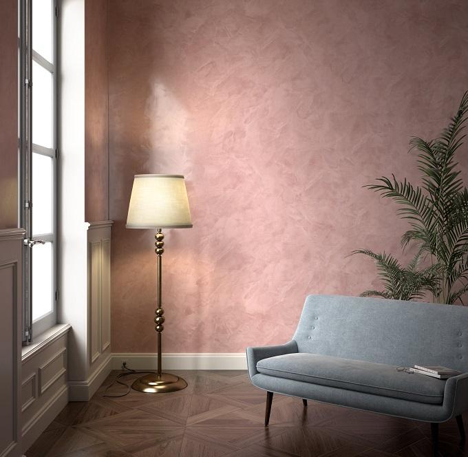 Parete decorata con Stucco Veneziano