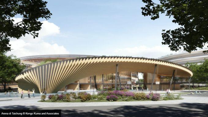 Quattro edifici a forma di anello per la Taichung Arena di Taiwan
