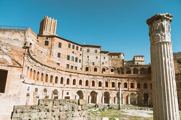 Restauro delle terme di Diocleziano con HD System