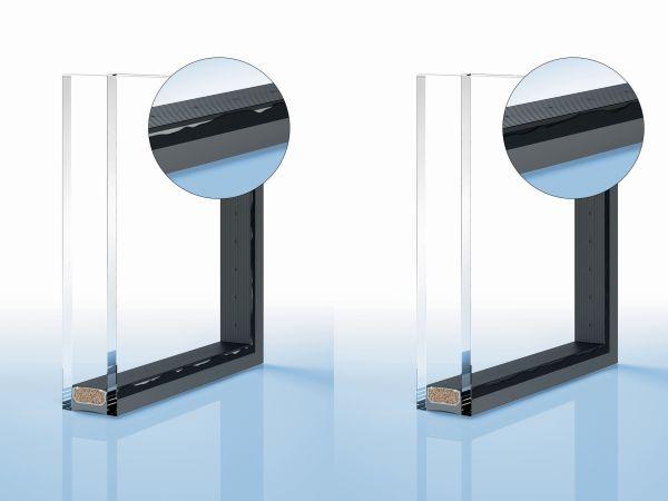 Distanziatori Thermix TX Pro di Ensinger con lato nero per realizzare facciate perfette senza telai