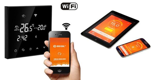 Termostato WiFi per la gestione a distanza