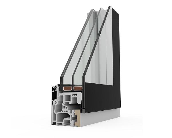 Dettaglio della finestra Agostini Fibexinside 500 Total Glass