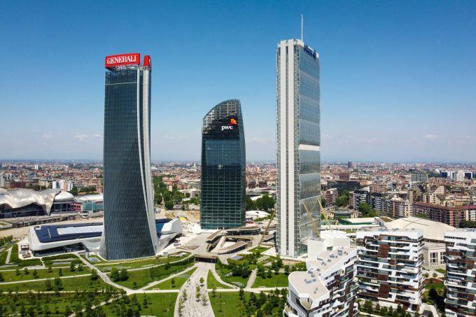 Le tre torri di CityLife a Milano