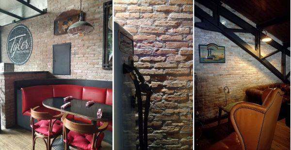 Listelli in laterizio a pasta molle Terreal SanMarco per le pareti del Tayler di Roma