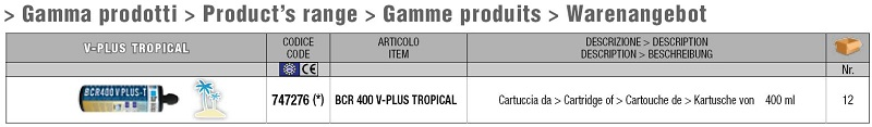 Gamma di prodotto V-Plus Tropical