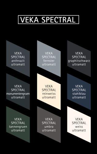 I tanti colori in cui è disponibile VEKA SPECTRAL