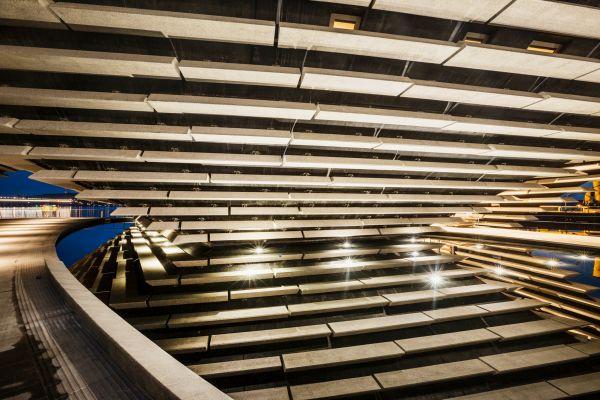I moduli in calcestruzzo prefabbricato utilizzati per il V&A di Dundee