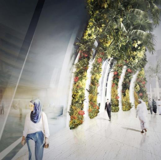 Vertical Oasis Building, il giardino verticale interno