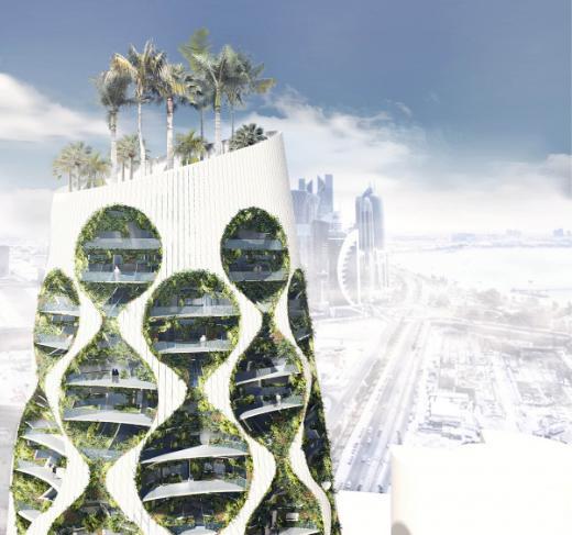 Vertical Oasis Building, grattacielo futuristico dalla forma conica