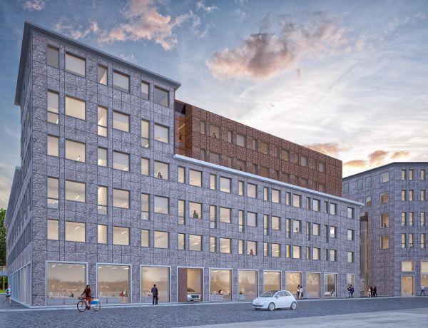 Facciate esterne del nuovo edificio Vetra Building