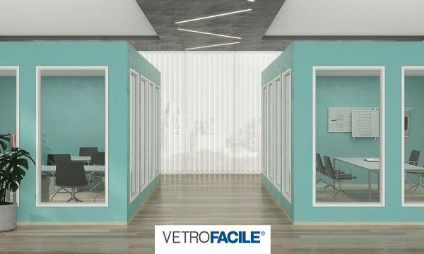 utilizzo di vetrofacile per partizioni interne di uffici