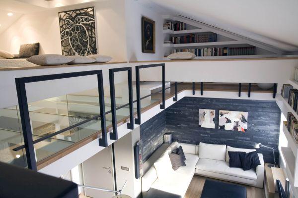 Sfruttare l'altezza per realizzare un soppalco. Appartamento in via Via Tupini a Roma