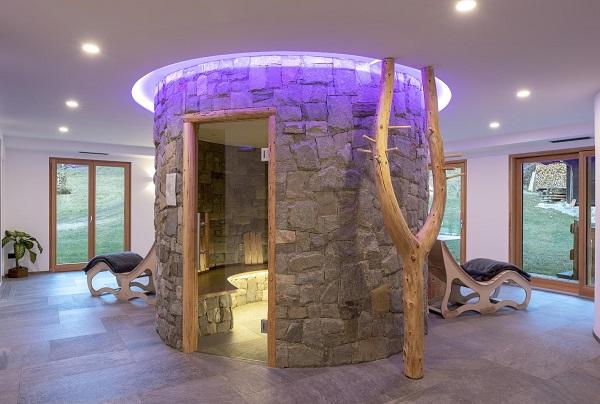 Vista sauna Hotel Aurai