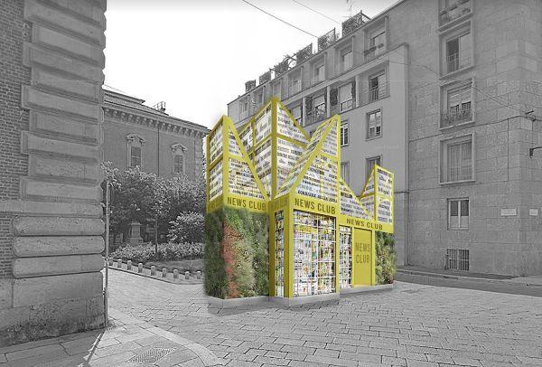 Il progetto di Gambardella Architetti dell'edicola del futuro