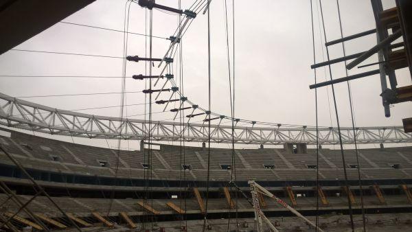 Il sistema di scarico pluviale sifonico di Wavin per il drenaggio delle acque del nuovo stadio di Madrid