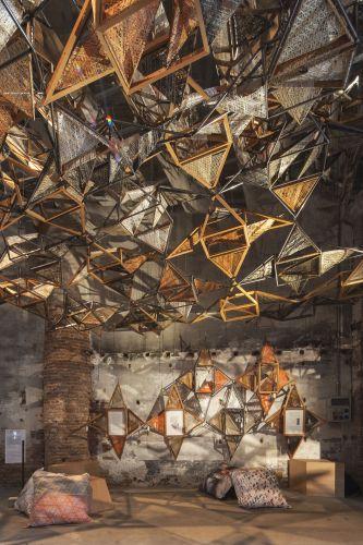 Weaving Architecture, installazione per Biennale Architettura 2018