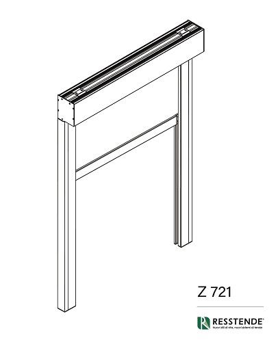 Sistema Z 720 per il montaggio di tende