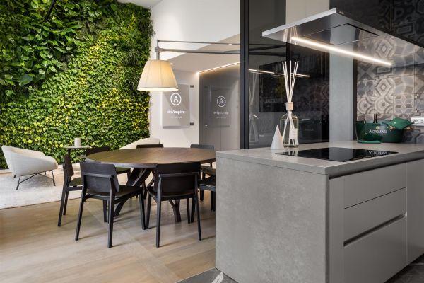 Un dettaglio degli interni di design del progetto NòvAmpère di Milano