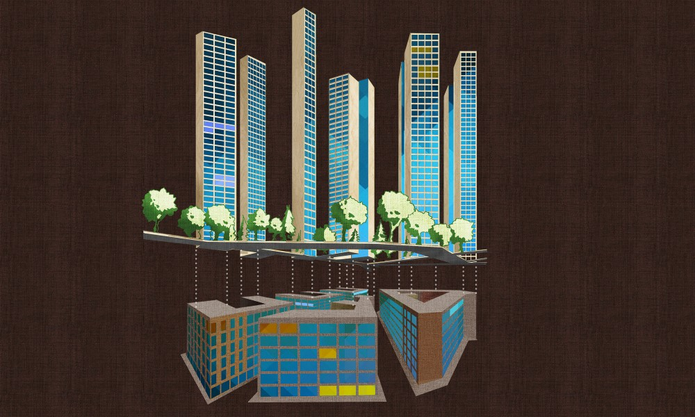 Masterplan progetto quartiere di Stoccolma con 31 grattacieli in legno