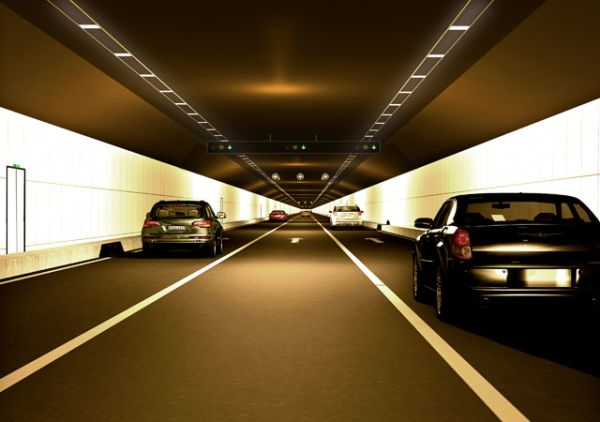 render tunnel sotterraneo ponte in cina